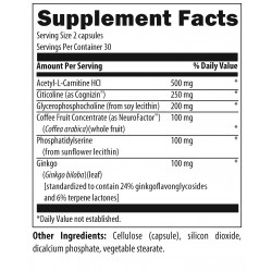 Brain Vitale Supplement Facts